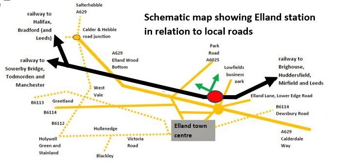 Elland map